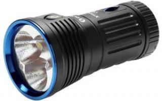Фонарь Olight X7 Marauder — мощный фонарик для требовательных людей